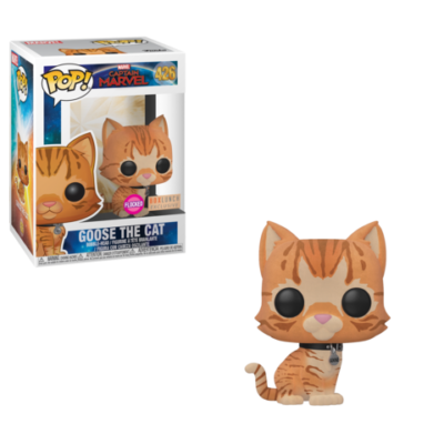 Captain Marvel Funko Goose The Cat Flocked BoxLunch Exclusive