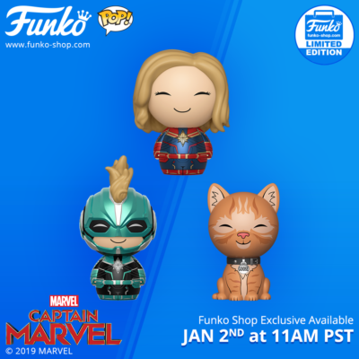 Captain Marvel Dorbz 3-Pack Bundle