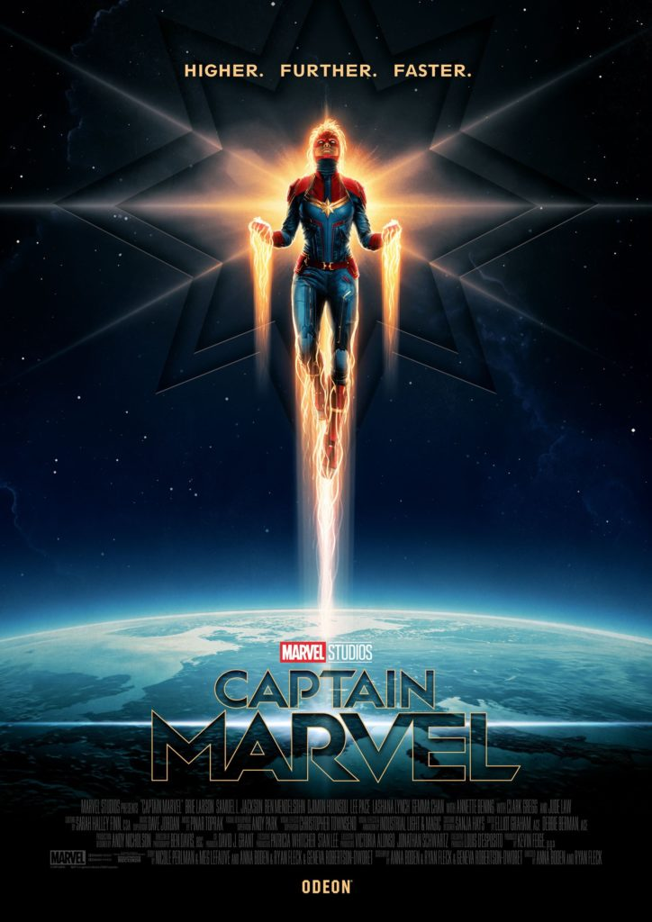 Odeon Cinemas Captain Marvel Poster