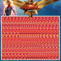 Captain Marvel Magic Eye Puzzles!