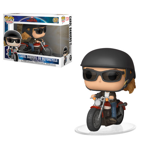 Carol Danvers on Motorcycle Funko Pop! Captain Marvel