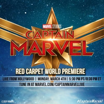 Captain Marvel World Premiere