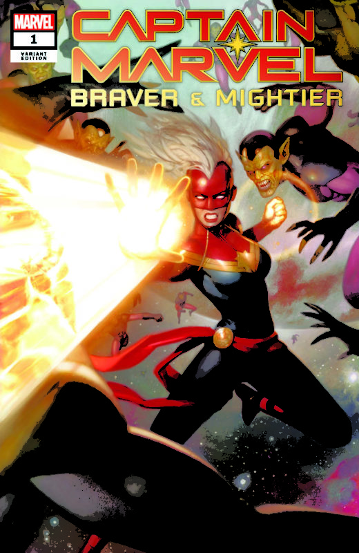 Captain Marvel Braver And Mightier #1 eBay Exclusive Ryan Brown Variant, $5.99 with free shipping.